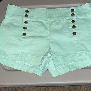NWT Forever 21 Mint Denim Shorts Size 31 Sailor